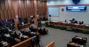 Suasana Sidang Paripurna Istimewa Hari Jadi Kota Bandung, Senin (26/9).