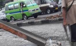 Proyek pengecoran jalan di kawasan Ibrahim Adjie (Kiaracondong). (Istimewa)