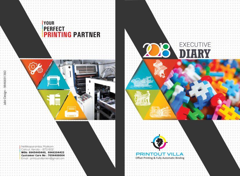 PRINTOUT VILLA DIARY COVER 2017 -18 \u2013 Jabir Design \u2013 Jabir Designs - diary design