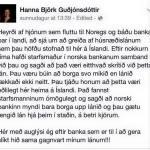 Norskur banki bjargar íslenskum hjónum.