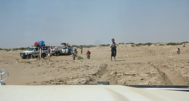 Jeeps stuck in Danakil