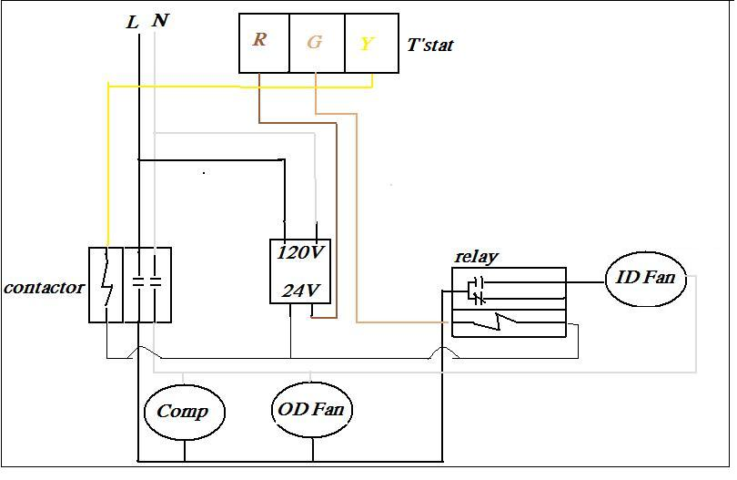 transformer wire diagram y1 y2