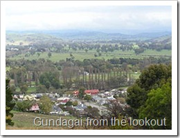 Gundagai from the lookout