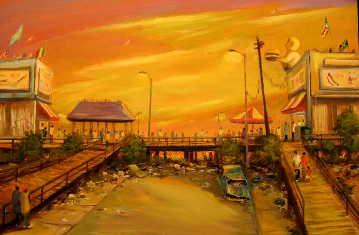 "Dead End, Coney Island, oil on panel, 24x36"", 2007"