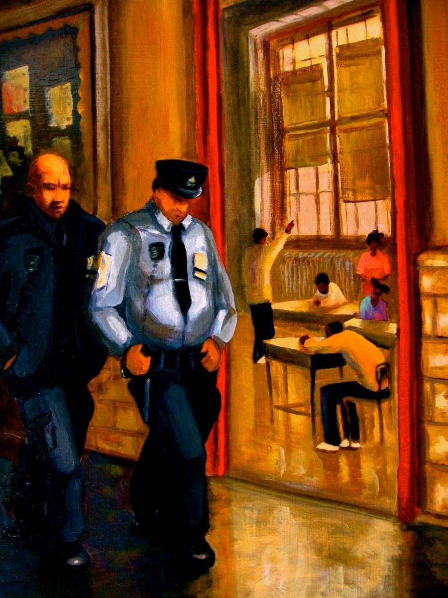 "Vertical Patrol, oil on panel, 18x24"", 2005"