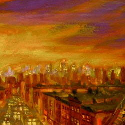 "Nostrand ave., oil on panel, 12x24"" 2014"