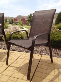 spray paint patio furniture | Just Us
