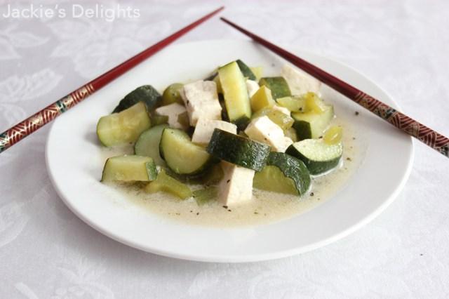 Sweet Tofu with Zucchini
