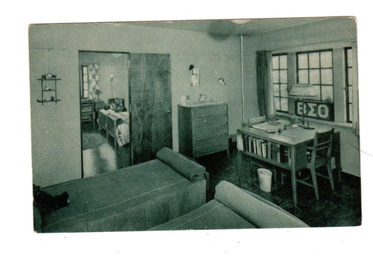 Postcard Dorm Room Ferguson Hall Westminster College New Wilmington Pennsylvania Jackie S Vintage Postcards