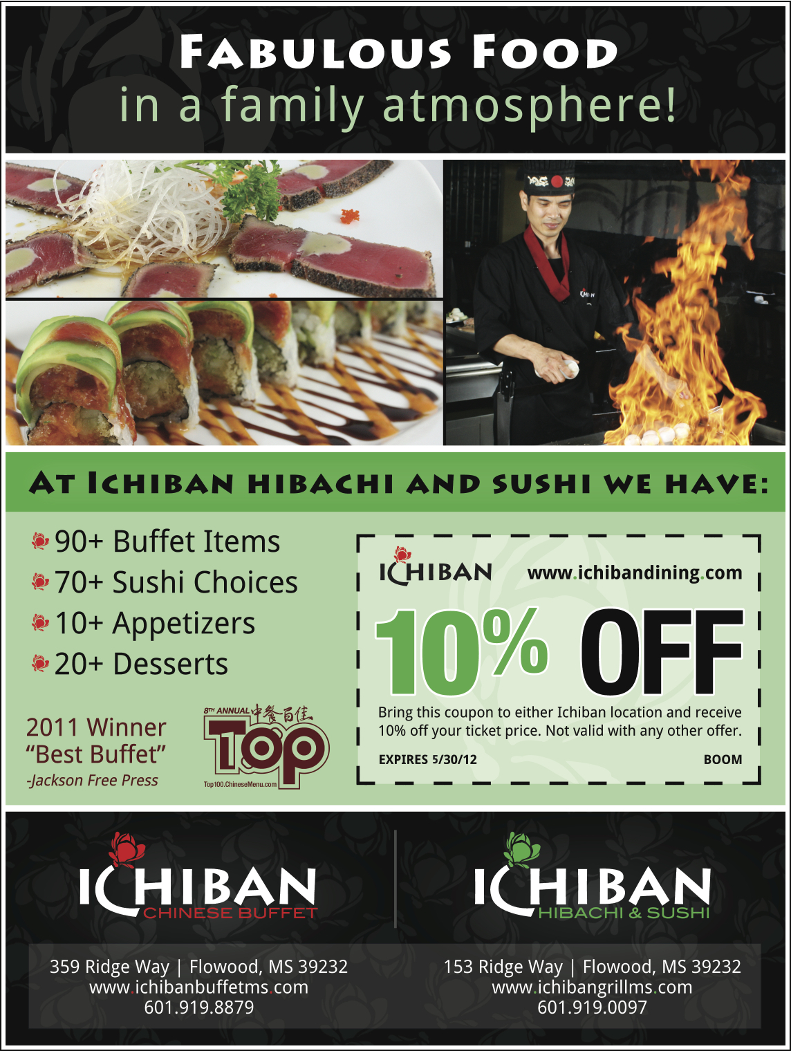 Theater Room Ideas Ichiban Hibachi & Sushi | Jackson Free Press | Jackson, Ms