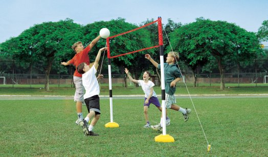 Play Set Dolls 3 In 1 Kids Tennis Badminton Volleyball Set