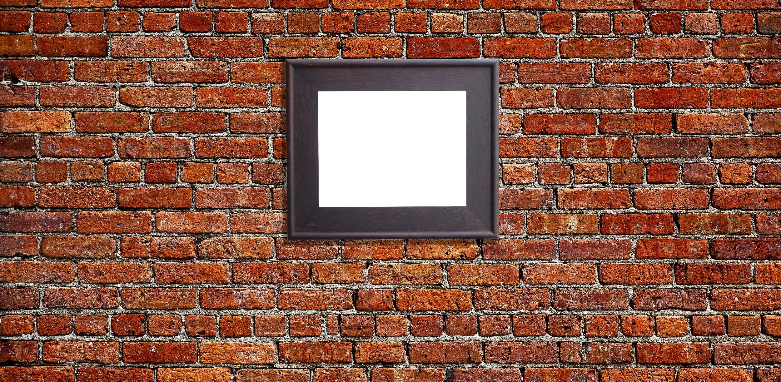 Wall Art For Brick Walls How To Hang A Picture On A Brick Wall Jackson 39s Gallery