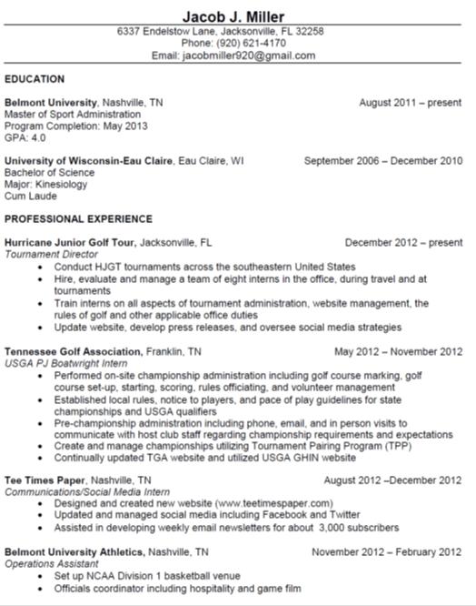 nashville resume services