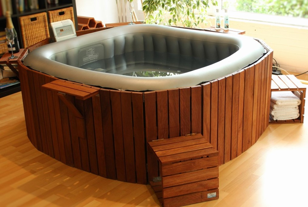 Jacuzzi Exterieur Demontable Version Carrée | Jacosi – Le Jacuzzi Cosy