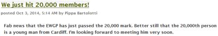 Bartolotti 20,000 members