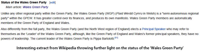 Green Party status
