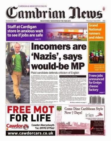 Cambrian News Nazis
