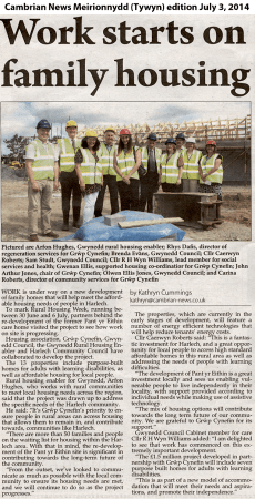 Cambrian News, Harlech homes