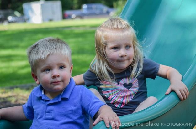 childrens portraits at Ham Lake park playground