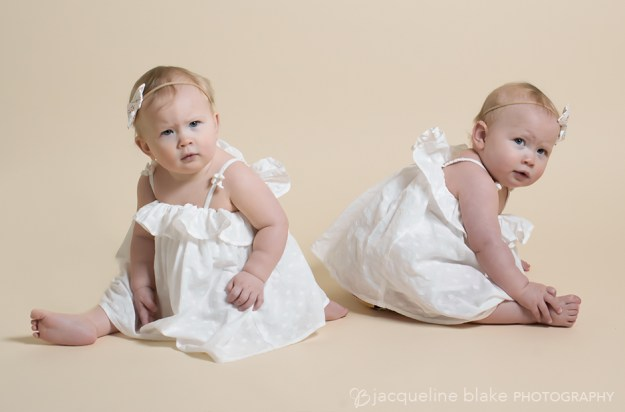 one year twinportraits in Ham Lake photography studio