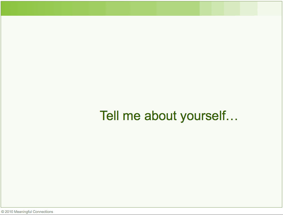 tell me about yourself that is not in your resume interview sle