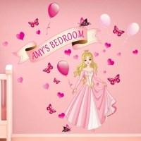 JAF Graphics. Personalised Girls Princess Wall Sticker ...