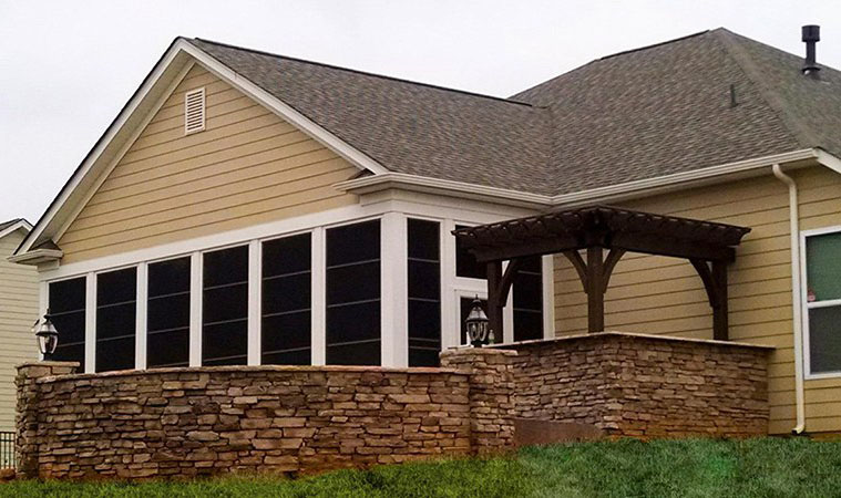 Azek Decking Reviews Porch Contractor | Covered Screen Four Season Sunroom