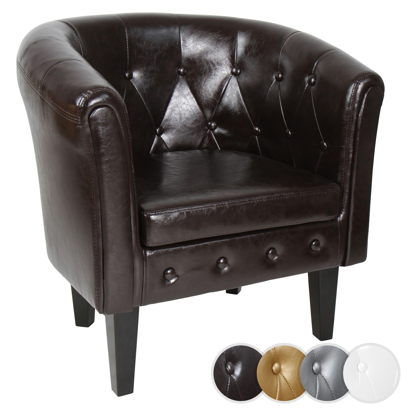 Chesterfield Sessel Details Zu Chesterfield Sessel Cocktail Clubsessel Stuhl Sofa Kunstleder Möbel Garnitur