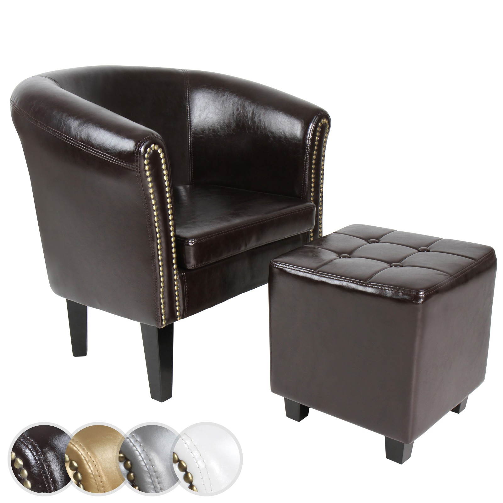 Chesterfield Sofa Und Hocker Chesterfield Sessel Hocker Clubsessel Sitzhocker Sofa