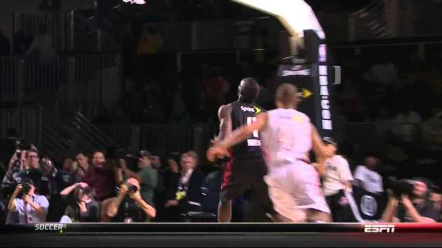Usain Bolt Dunk 2013 NBA All-Star Celebrity Game (Video)