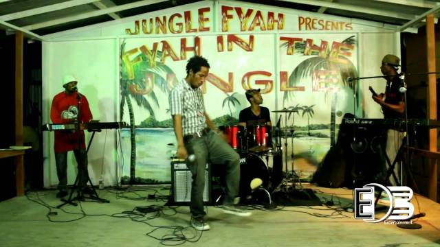 eXile di brave and The Yard Drive Band @ Jungle Fyah Portmore JA (April 2013)
