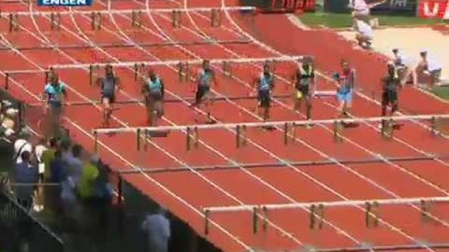 Hansel Parchment Wins in 13.05 110m hurdles at the Eugene Diamond League 2013