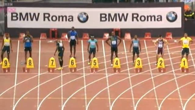 Justin Gatlin Beats Usain Bolt To Win in 9.94 At The Golden Gala Rome Diamond League 2013