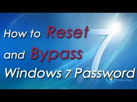 How to Reset and Bypass Windows 7 Password