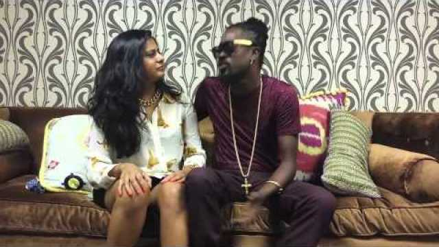 Beenie Man Backstage at BET's 106 & Park (Aug. 2013)