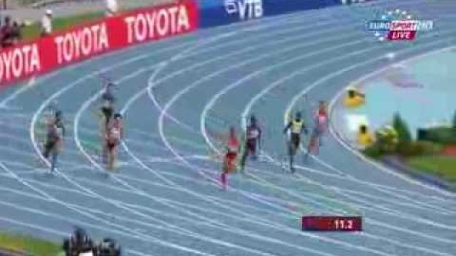 Allyson Felix 22.59Q fastest qualifier heat 6 women's 200m IAAF World Champs 2013
