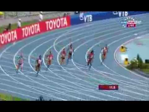 Murielle Ahoure 22.66Q wins heat 7 women's 200m IAAF World Champs 2013