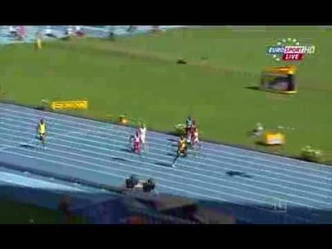 Usain Bolt (JAM) 20.66Q wins heat 7 men's 200m IAAF World Champs 2013
