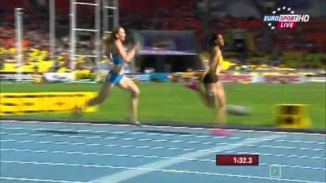 RUSSIA 3:23.51Q JAMAICA 3:25.25Q heat 3 women's 4x400m relay IAAF World Champs 2013
