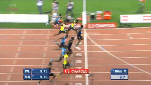 Usain Bolt Wins in 9.90 Mens 100m Zurich Diamond League 2013