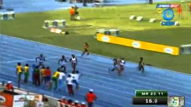 Shaniel English 24.31 wins Class 3 200m Final Boys & Girls Champs Jamaica 2014