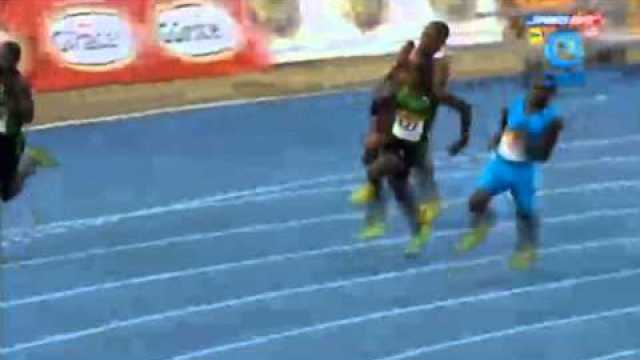 Jevaughn Minzie 20.50 wins Class 1 200m Final Boys & Girls Champs Jamaica 2014