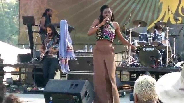 "Jah9 performing ""Steamers A Bubble"" live at Reggae On The River 2014"