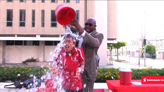 ALS Bucket Challenge Accepted! Scotiabank Jamaica