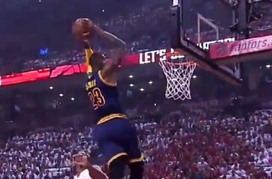 LeBron James Alley-Oop! 21 First Half Points Eastern Conference Finals 2016