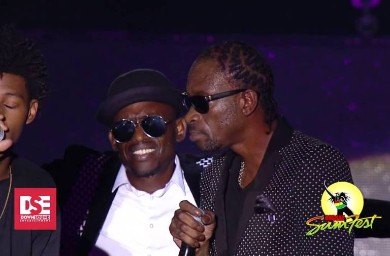 Bounty Killer and his son Major Myjah Performing Reggae Sumfest 2016