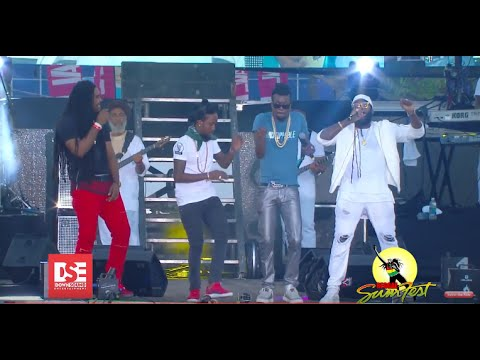 Tarrus Riley, Iba Mahr, Zagga, Beenie Man and Popcaan at Reggae Sumfest 2016