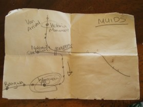 Our cryptic treasure map.