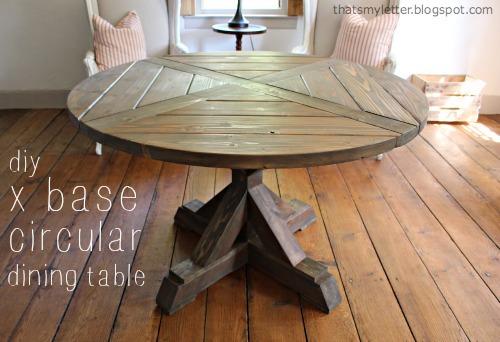 Diy X Base Circular Dining Table Jaime Costiglio
