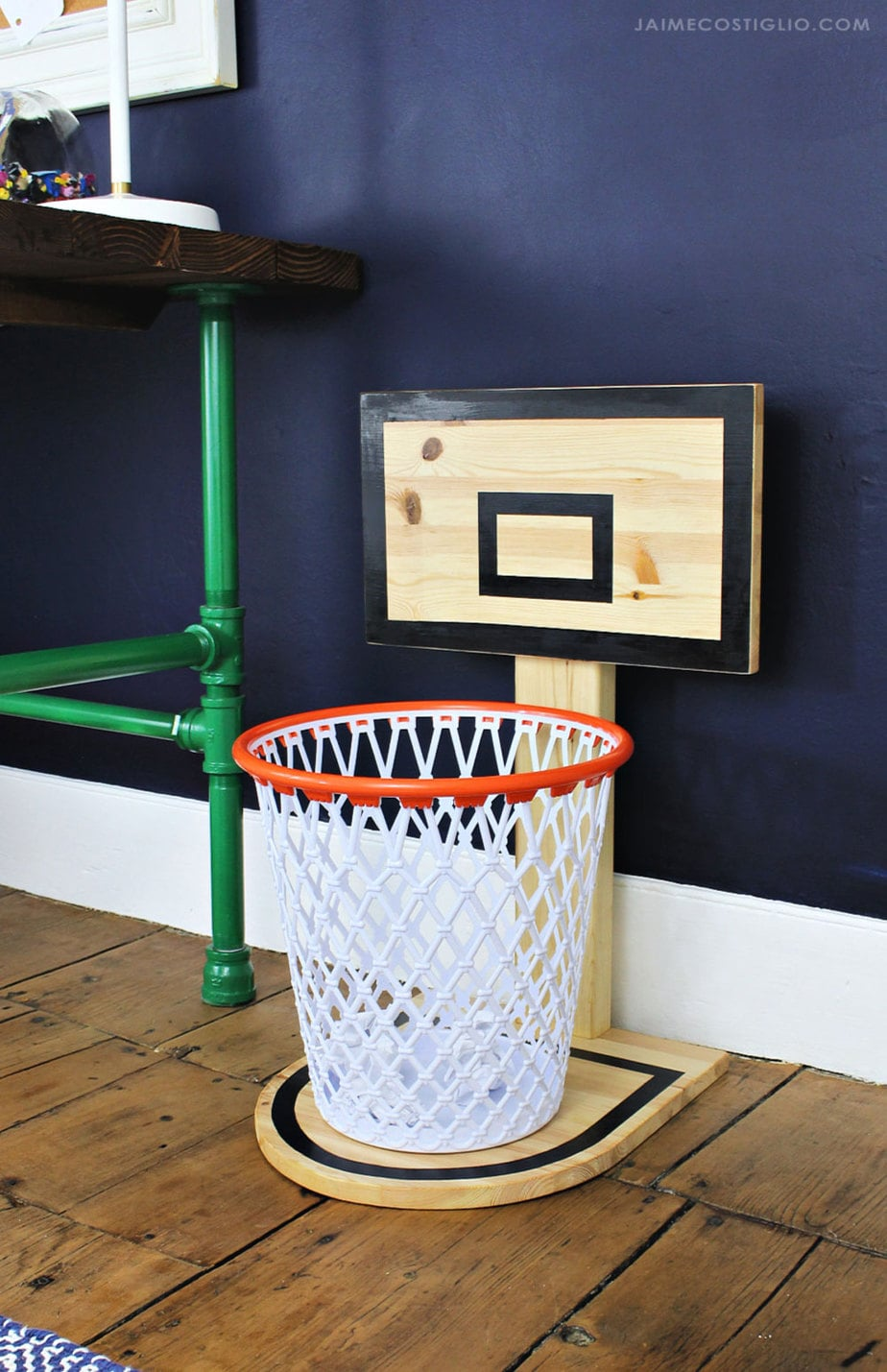 Fun Trash Can Diy Basketball Hoop Trash Can Jaime Costiglio